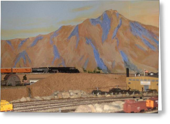 Magnificent Train Room Greeting Card by Maria Hunt