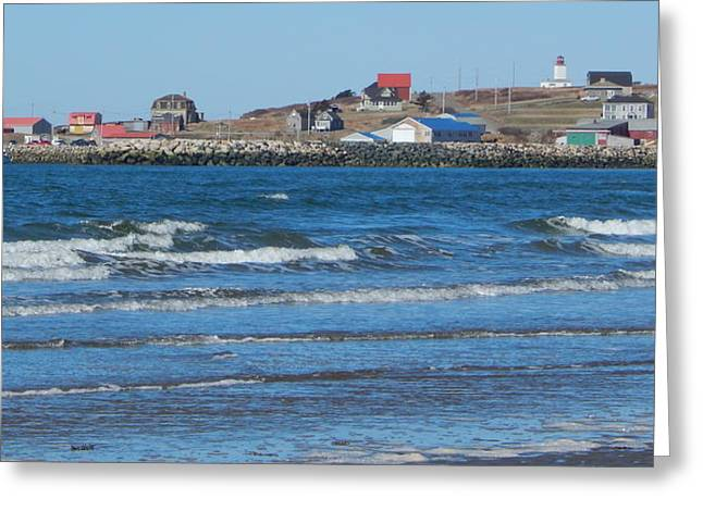 Coming Ashore At Mavillette Beach Greeting Card by Karen Cook