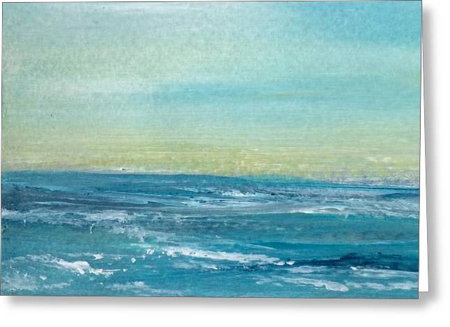 Coming Ashore Greeting Card by Judy Jacobs