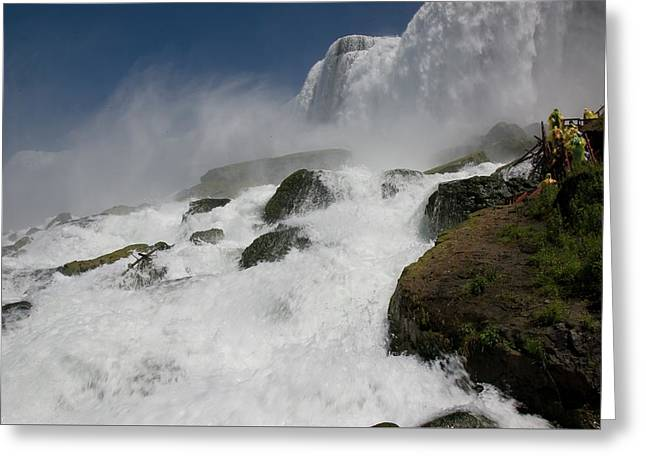 Greeting Card featuring the photograph Coming Close To Niagara Falls by Jeff Folger