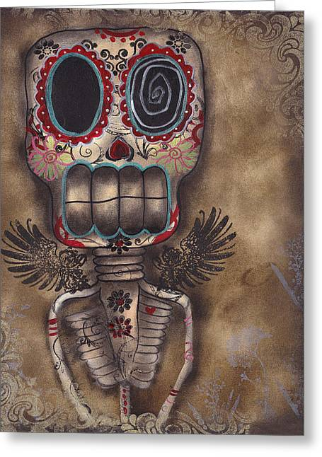 Coming For You Greeting Card by  Abril Andrade Griffith