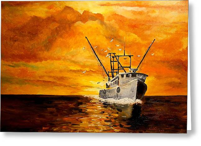 Coming Home Greeting Card by Alan Lakin