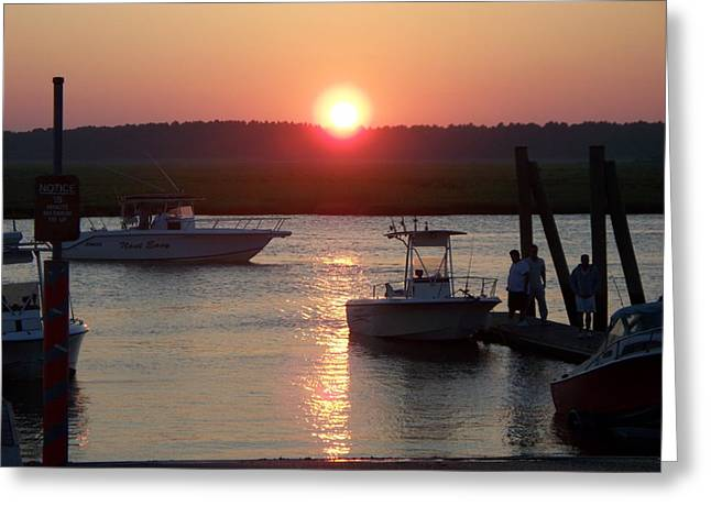 Coming Home At Sunset Greeting Card by Rosanne Bartlett