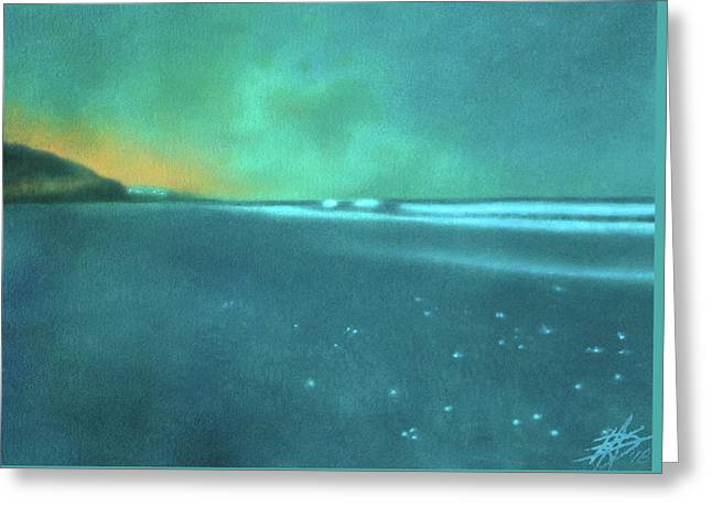 Luminescence At Torrey Pines Greeting Card by Robin Street-Morris
