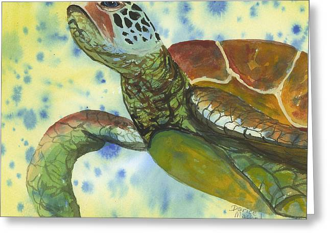 Greeting Card featuring the painting Coming Up For Air by Darice Machel McGuire
