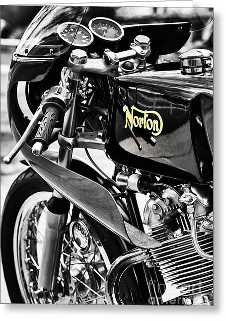 Commando Cafe Racer Greeting Card