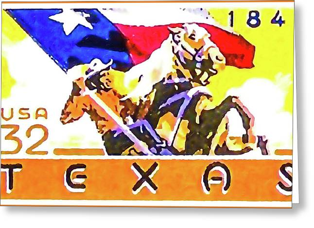 commemorative of the 150th anniversary of Texas statehood Greeting Card by Lanjee Chee