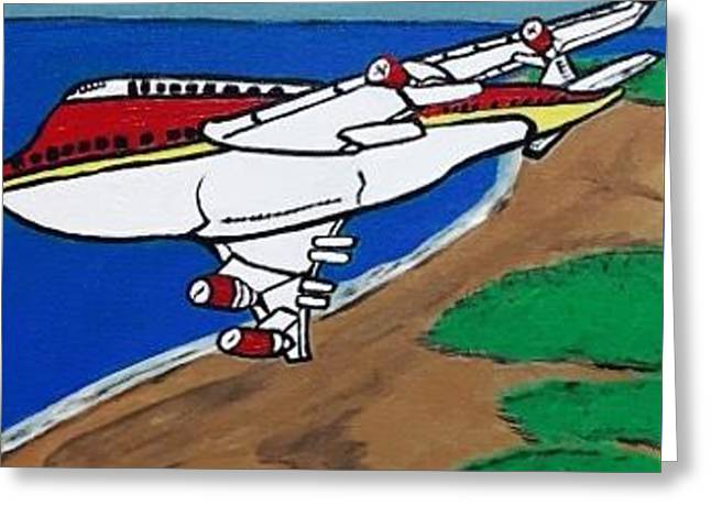 commercial aviation painting. Original. Greeting Card