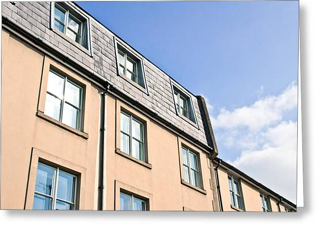 Commercial Building Greeting Card by Tom Gowanlock