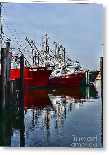 Commercial Fishing Fleet Greeting Card