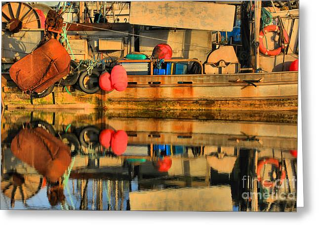 Commercial Fishing Gear Greeting Card by Adam Jewell