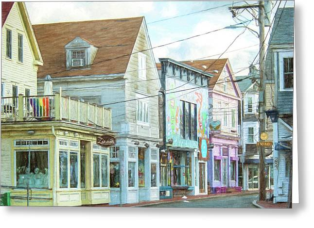 Commercial St #1 Greeting Card
