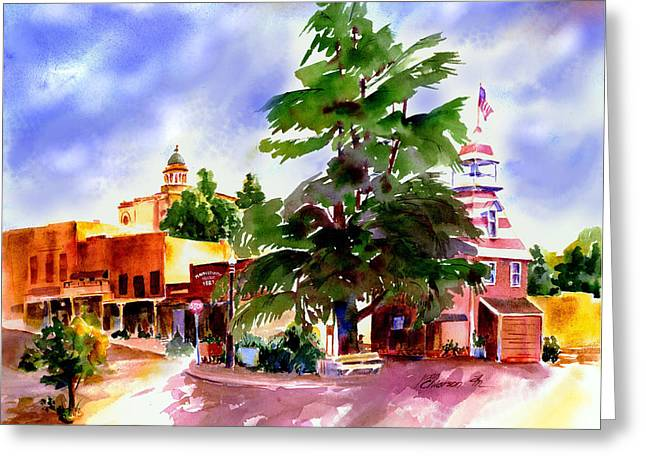 Commercial Street, Old Town Auburn Greeting Card