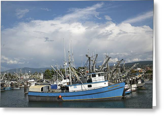 Greeting Card featuring the photograph Commerical Fishing Boats by Elvira Butler