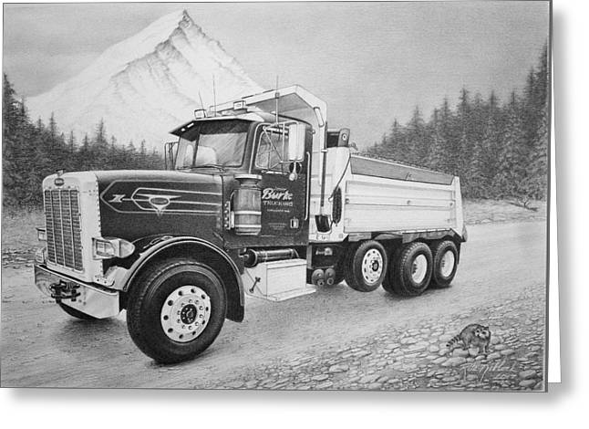 Commissioned Peterbilt Truck Greeting Card
