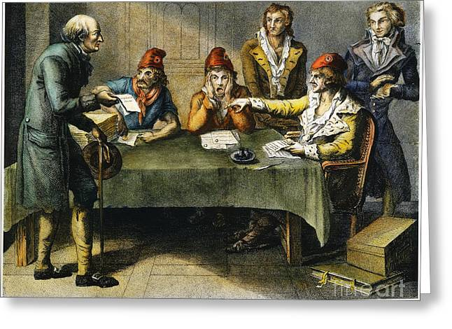 1793 Greeting Cards - Committee Of Public Safety Greeting Card by Granger