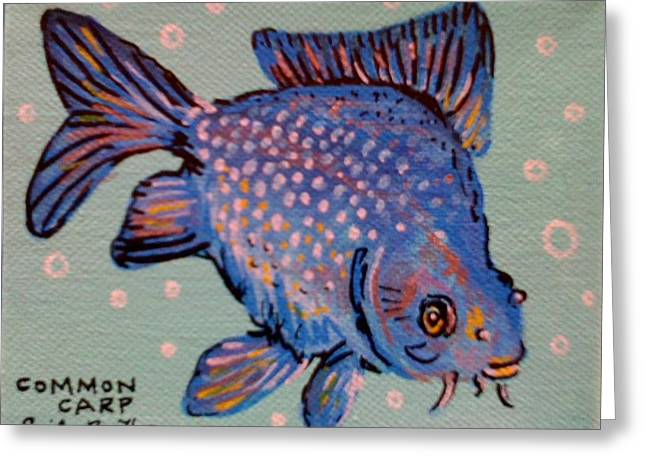 Common Carp Greeting Card by Emily Reynolds Thompson