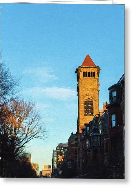 Commonwealth Avenue In Boston Greeting Card