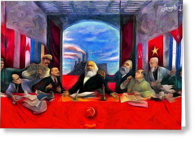 Communist Last Supper - Da Greeting Card