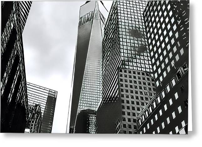 Commuters' View Of 1 World Trade Center Greeting Card