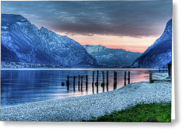 Como's Lake Greeting Card by Andrea Barbieri