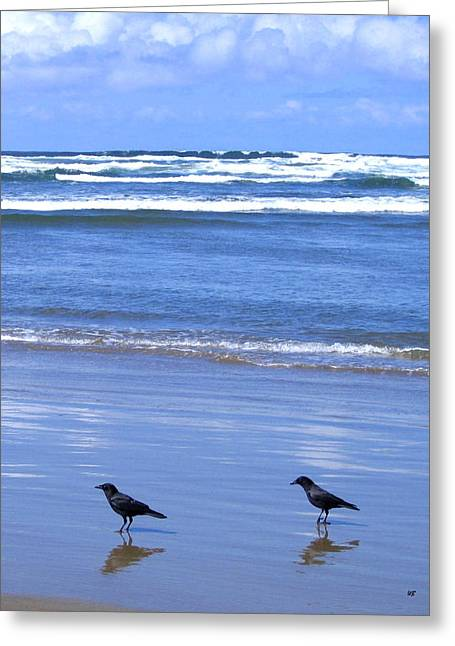 Companion Crows Greeting Card