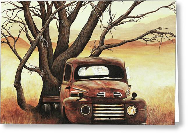 Classic Pickup Paintings Greeting Cards - Companion Greeting Card by Janice Smith