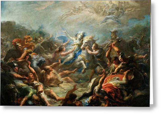 Camillia At War From Virgils Aeneid Greeting Card by Giacomo del Po
