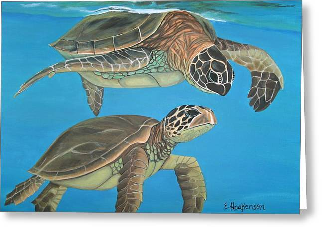 Companions Of The Sea Greeting Card by Elaine Haakenson
