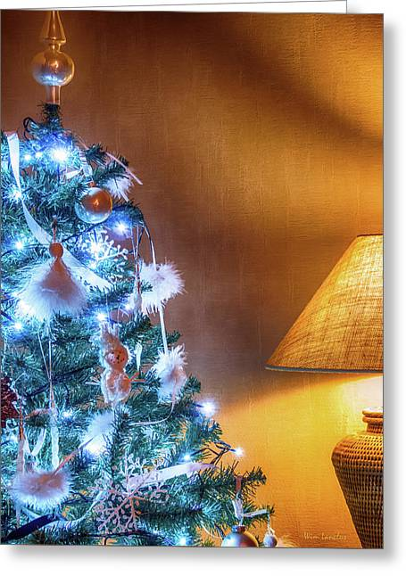 Complementary Christmas Tree Greeting Card by Wim Lanclus