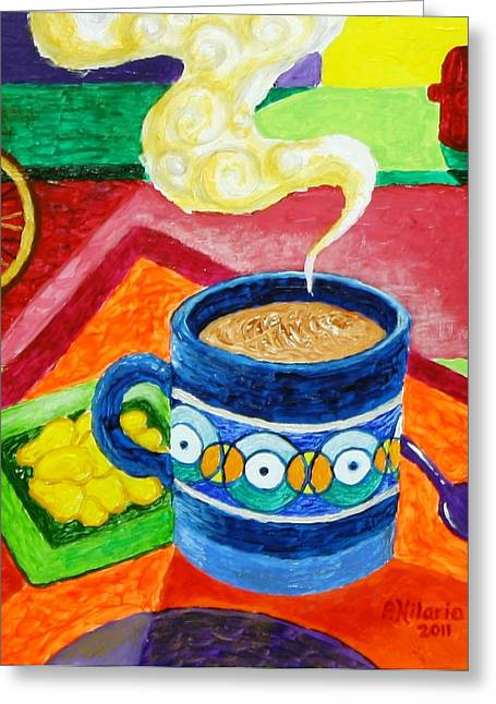 Complementary Coffee 2 Greeting Card by Paul Hilario