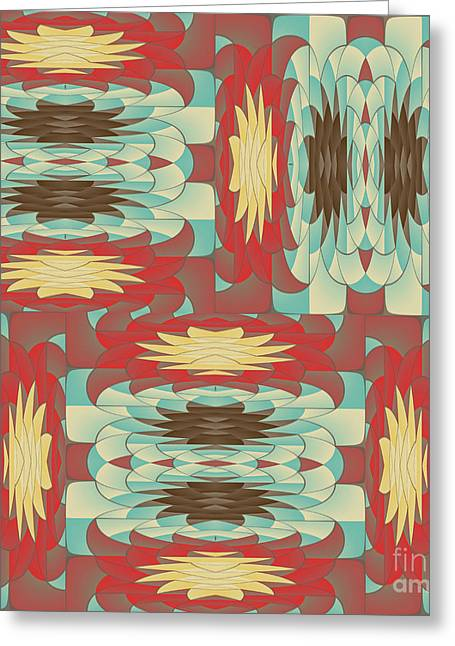 Complex Colorful Pattern Greeting Card by Gaspar Avila