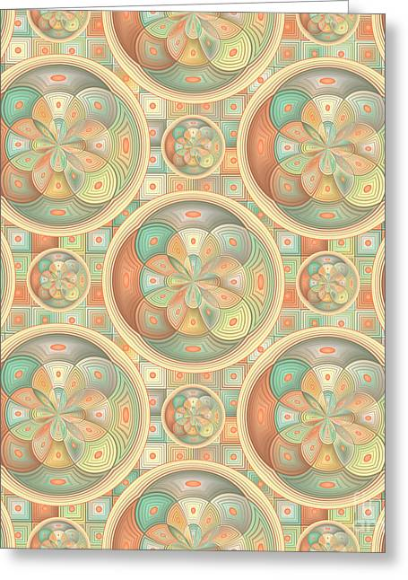 Complex Geometric Pattern Greeting Card by Gaspar Avila