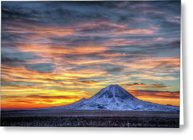 Complicated Sunrise Greeting Card by Fiskr Larsen
