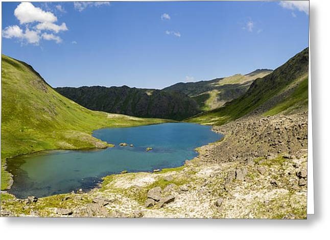 Composite Panorama Of Hanging Valley Greeting Card