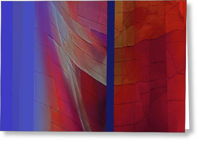 Greeting Card featuring the digital art Composition 0310 by Walter Fahmy