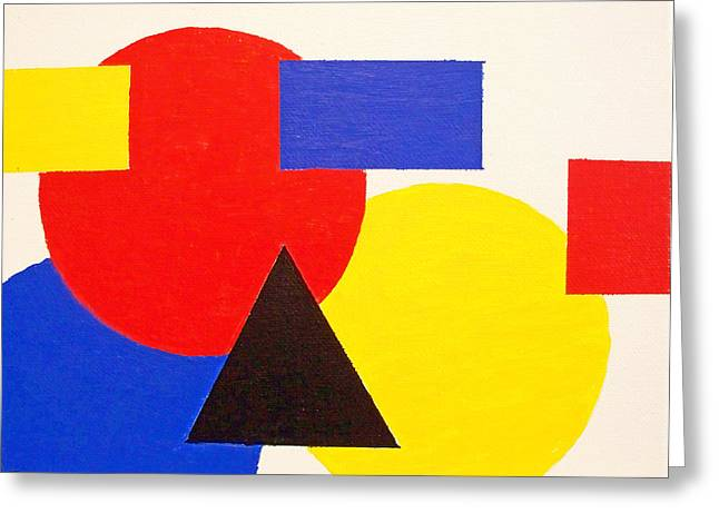 Composition 1035 Greeting Card by Rod Schneider