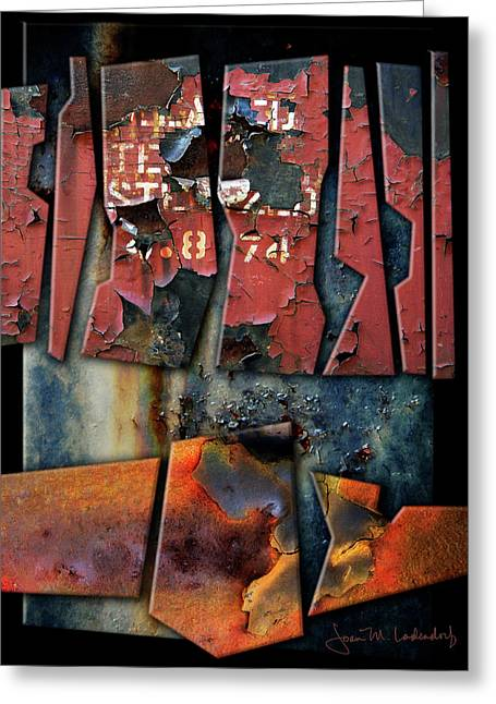 Composition 2 Greeting Card by Joan Ladendorf