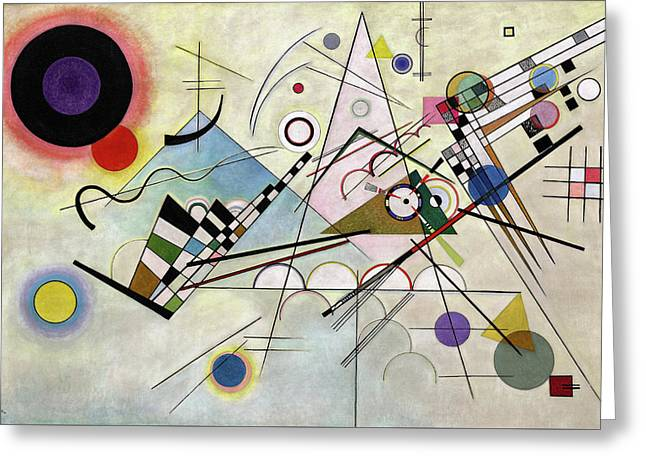 Composition 8 Greeting Card by Wassily Kandinsky