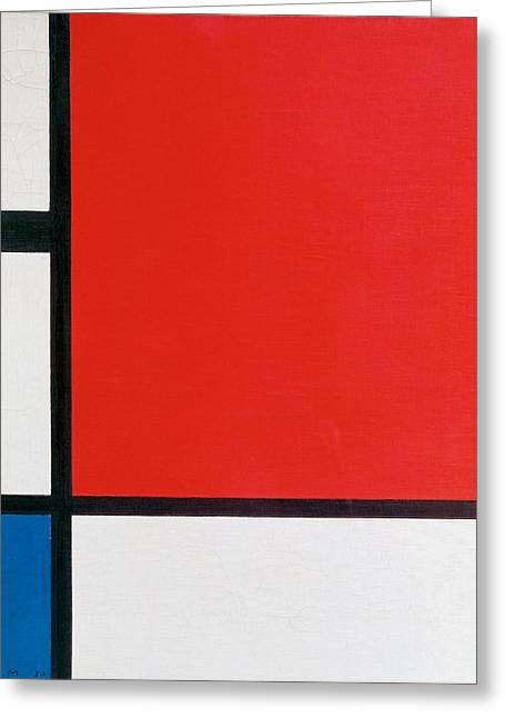 Composition II In Red, Blue, And Yellow - Piet Mondrian Greeting Card