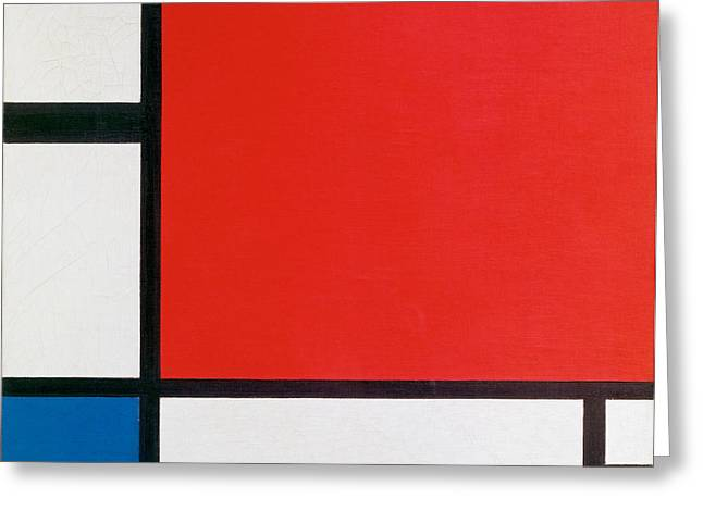 Composition II In Red, Blue, And Yellow - Piet Mondrian Greeting Card by War Is Hell Store