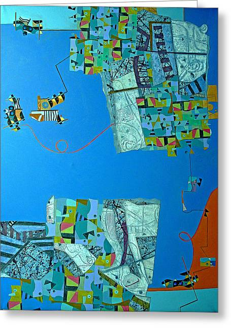 Composition IIi 08 Greeting Card by Maria Parmo