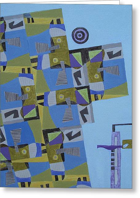 Composition Xi-07 Greeting Card by Maria Parmo