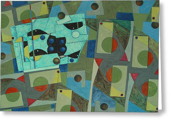 Composition Xxv 07 Greeting Card by Maria Parmo
