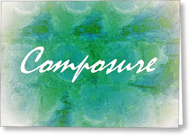 Composure Greeting Card by Eloise Schneider