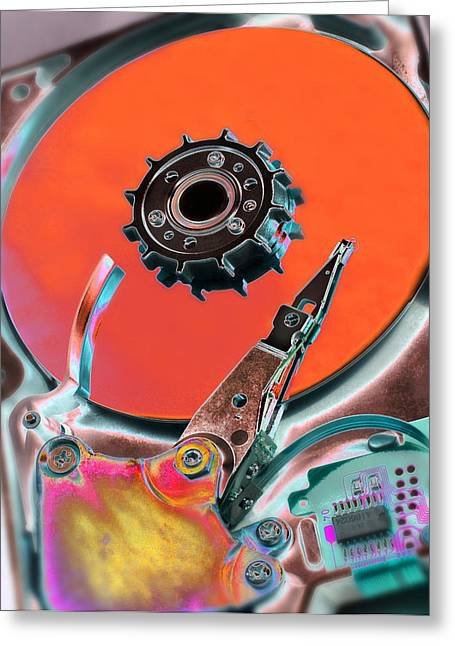 Computer Hard Disc Greeting Card by Mark Sykes