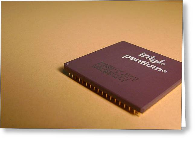 Computer Intel Pentium Processor                   Greeting Card