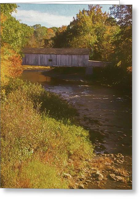 Comstock Covered Bridge Greeting Card