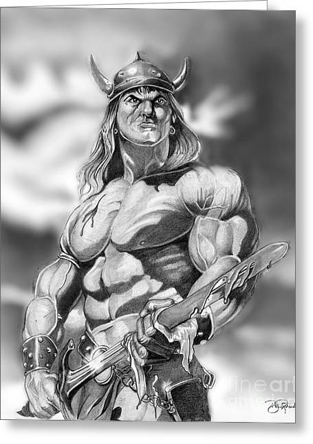 Conan Greeting Card by Bill Richards
