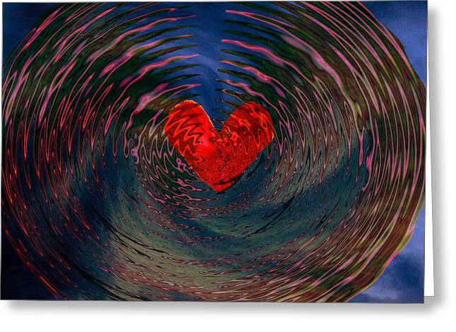 Greeting Card featuring the digital art Concentric Love by Linda Sannuti